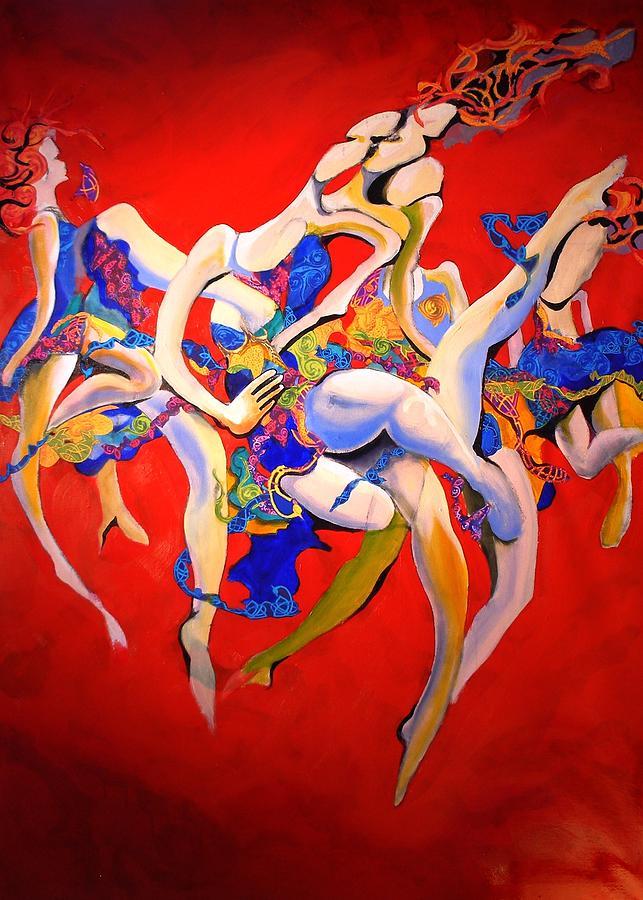 Valkyries Painting by Georg Douglas