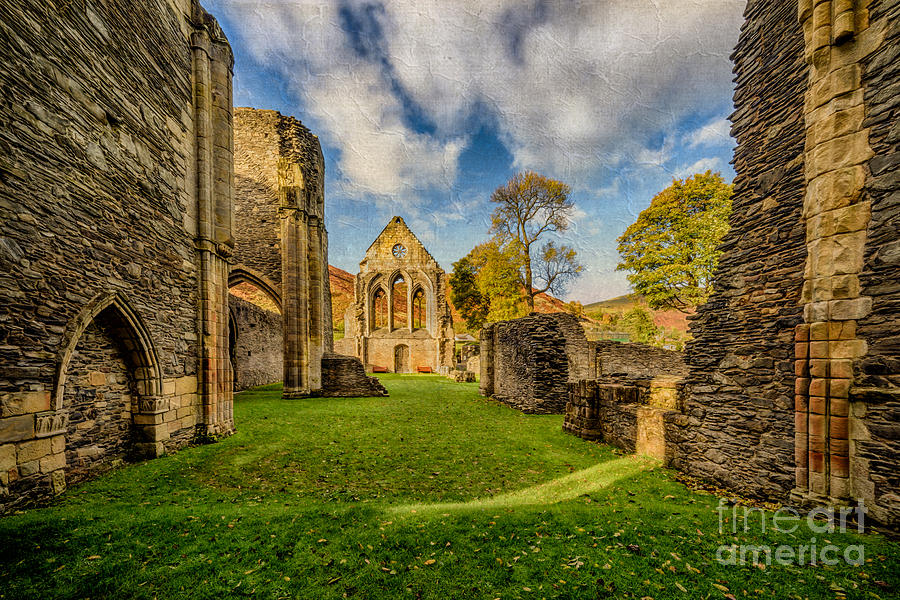 13th Century Photograph - Valle Crucis Abbey Ruins by Adrian Evans