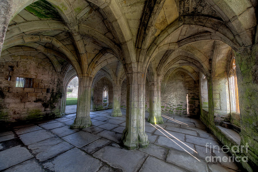 Abbey Photograph - Valle Crucis Chapter House  by Adrian Evans