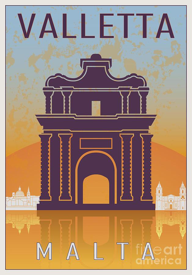 Valletta Vintage Poster Digital Art