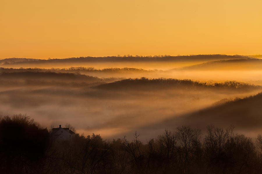 Sunrise Photograph - Valley Fog by Bill Wakeley