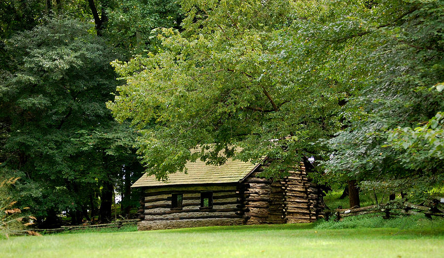 Valley Forge Photograph - Valley Forge Cabin by Sherlyn Morefield Gregg