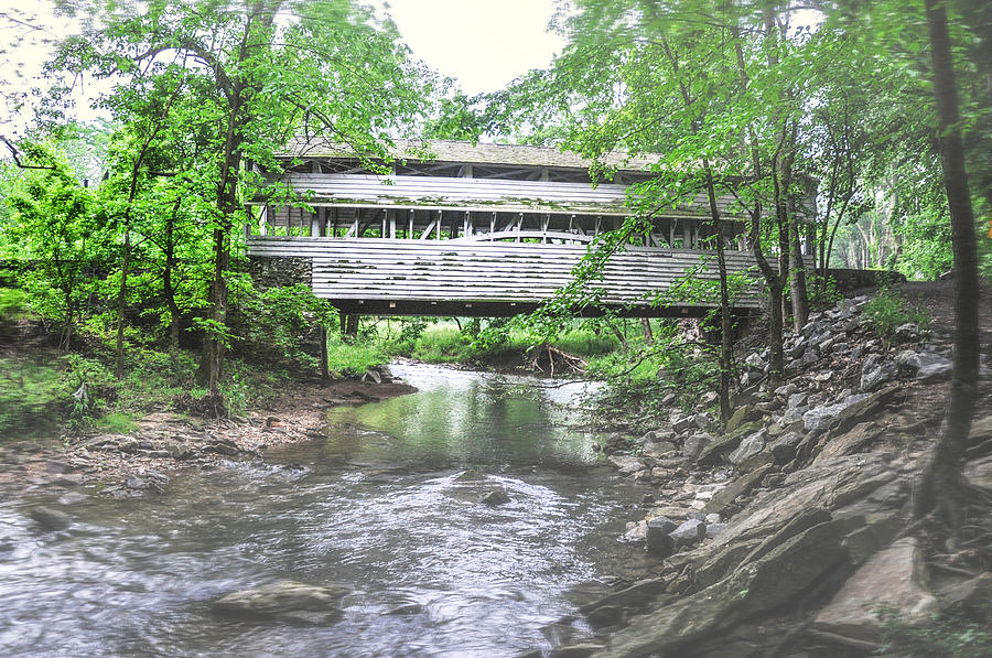 Valley Photograph - Valley Forge - Knox Covered Bridge by Bill Cannon
