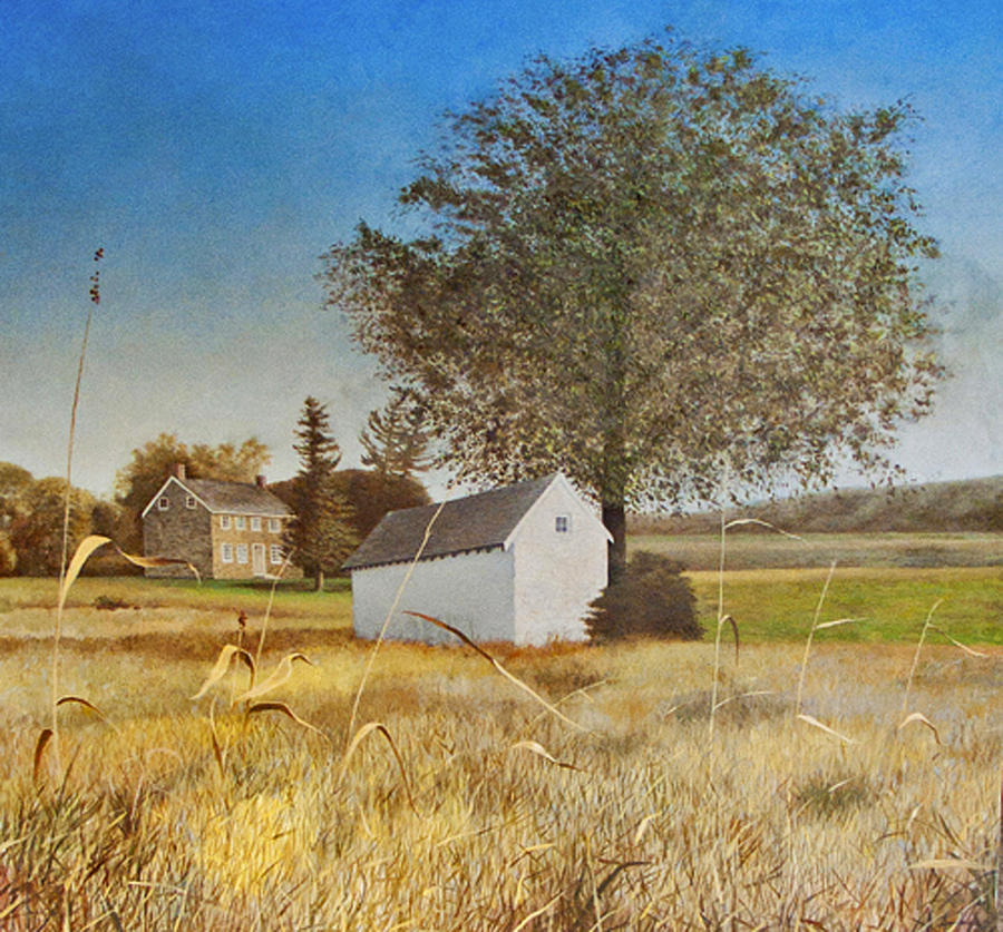 Valley Forge Painting - Valley Forge Spring House by Randall Graham