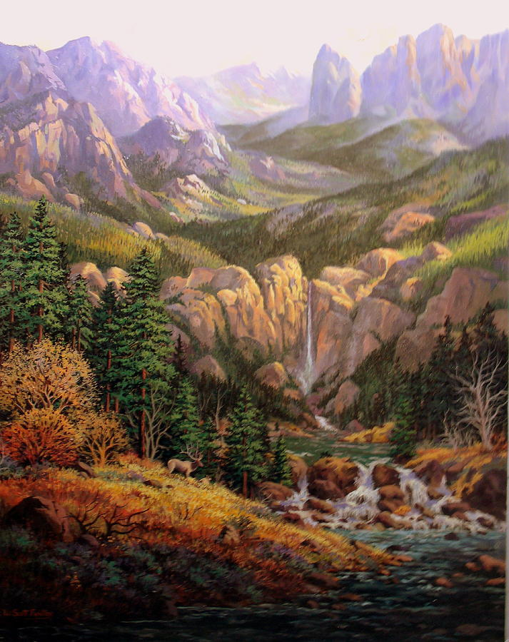 Mountain Painting - Valley King by W  Scott Fenton