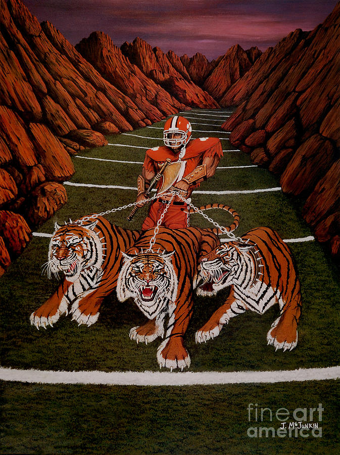 Football Painting - Valley Of Death by Jeff McJunkin