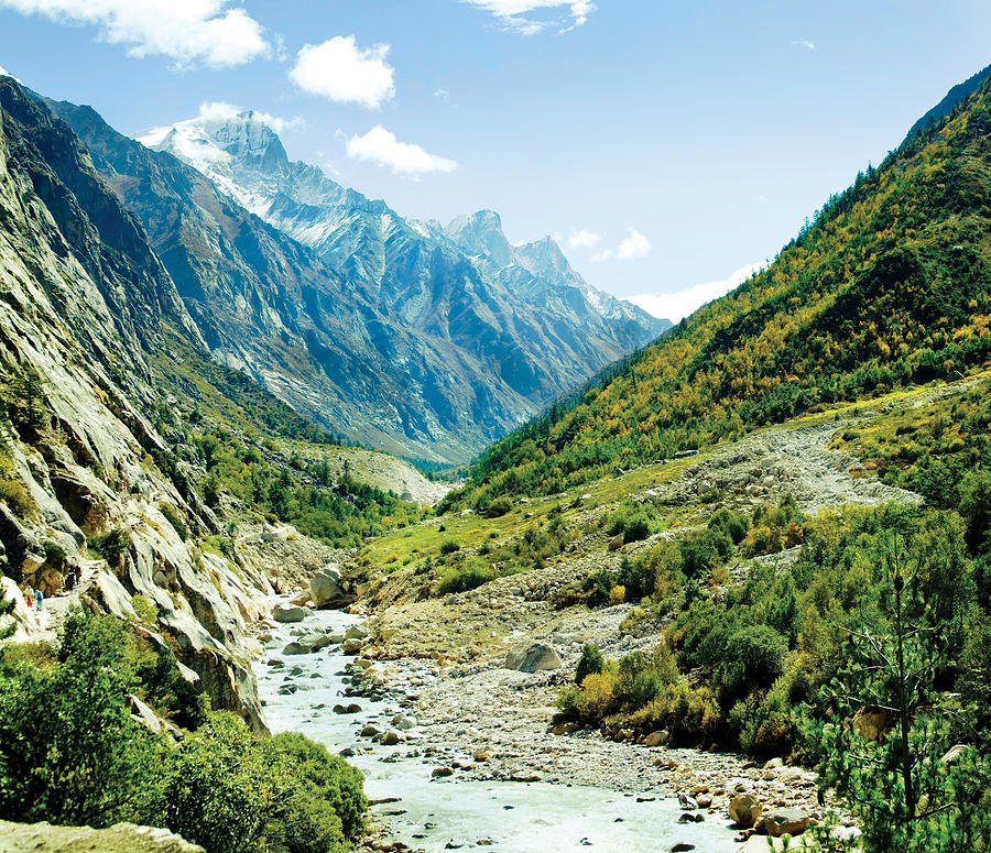 Valley Photograph - Valley Of River Ganga In Himalyas Mountain by Raimond Klavins