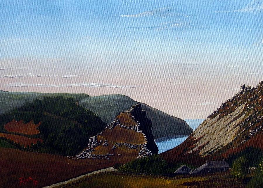 Landscape Painting - Valley Of Rocks Devon by Richard Taylor