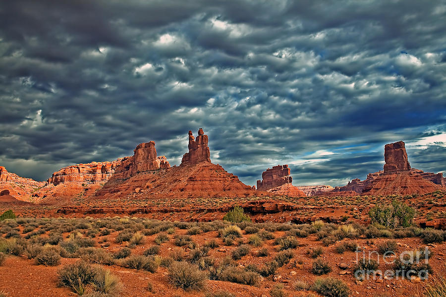 Clouds Photograph - Valley Of The Gods by Robert Bales