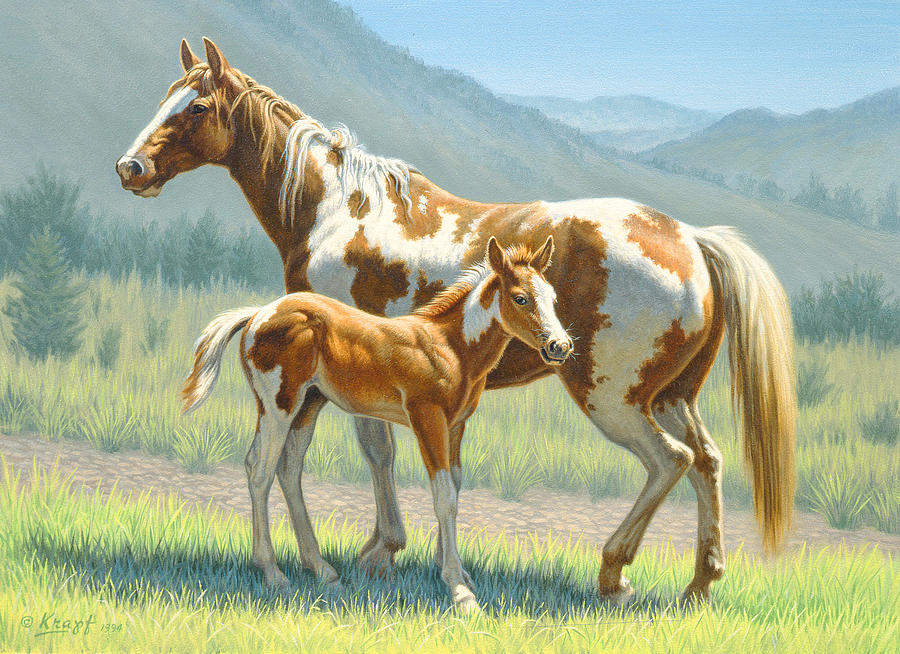 Horse Painting - Valley Paints by Paul Krapf