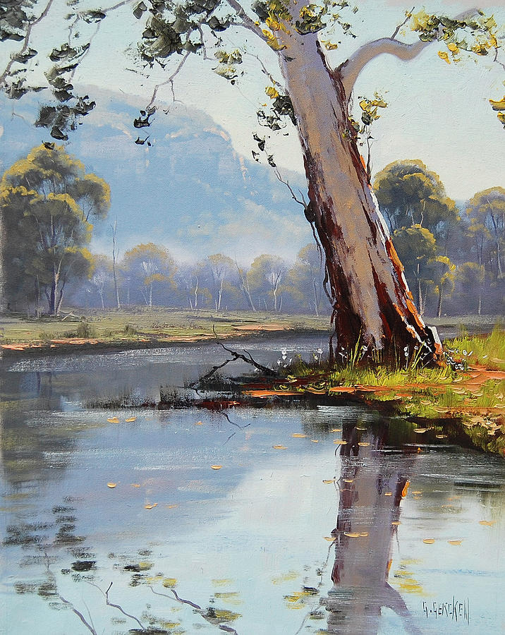 River Painting - Valley River by Graham Gercken