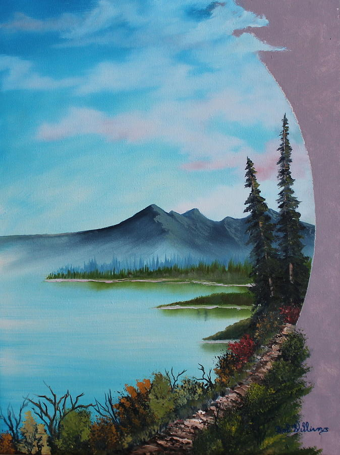 Oil Painting - Valley Vignette by Bob Williams