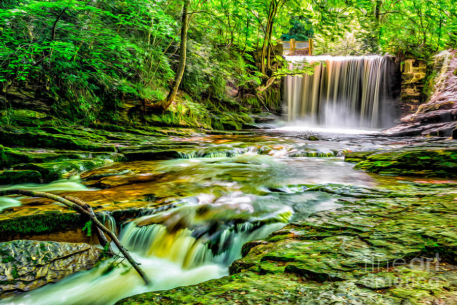 Architecture Photograph - Valley Waterfall  by Adrian Evans