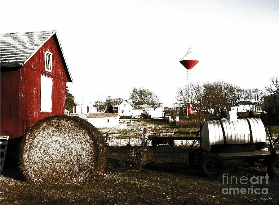 Hometown Digital Art - Values by Robert Jensen