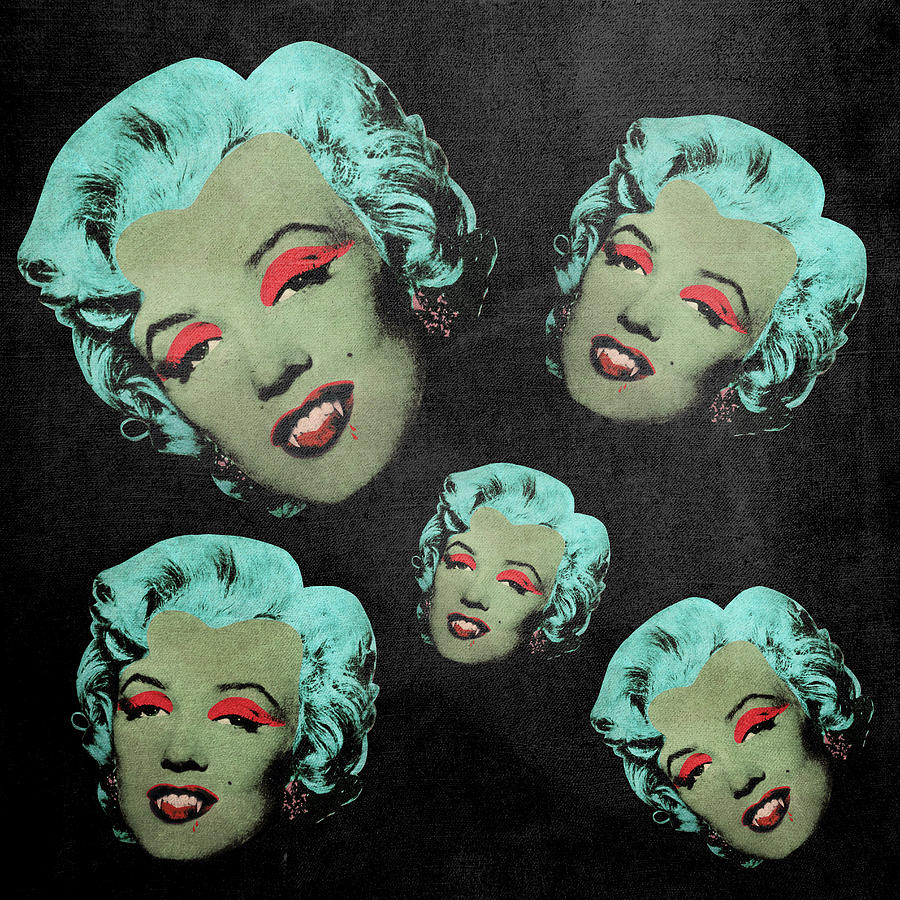 Pop Digital Art - Vampire Marilyn 5a by Filippo B