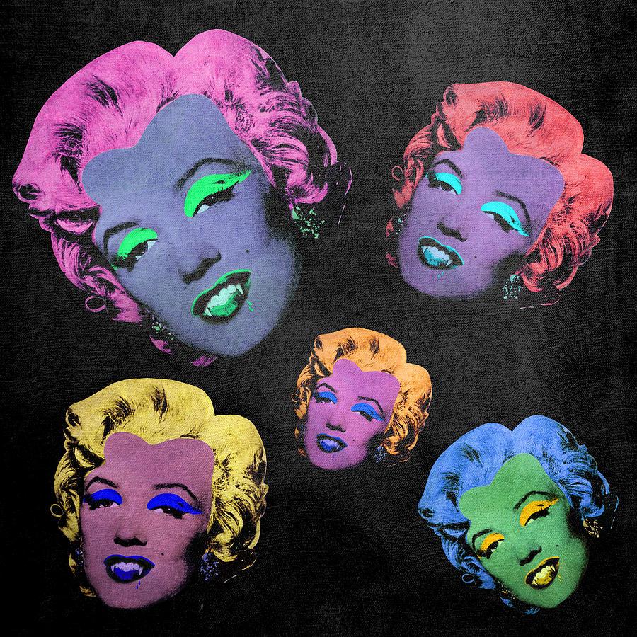 Pop Digital Art - Vampire Marilyn 5b by Filippo B