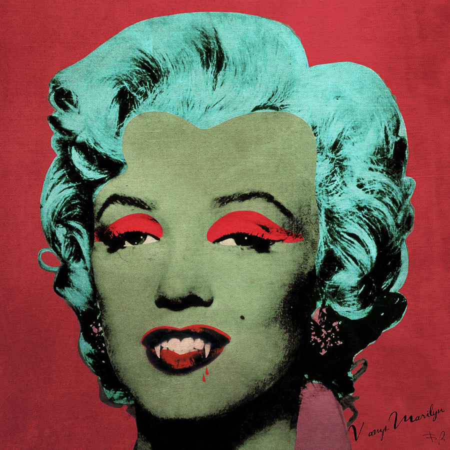 Pop Photograph - Vampire Marilyn Variant 1 by Filippo B