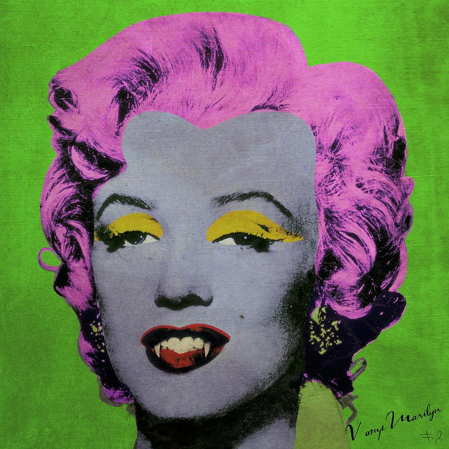 Pop Digital Art - Vampire Marilyn Variant 2 by Filippo B