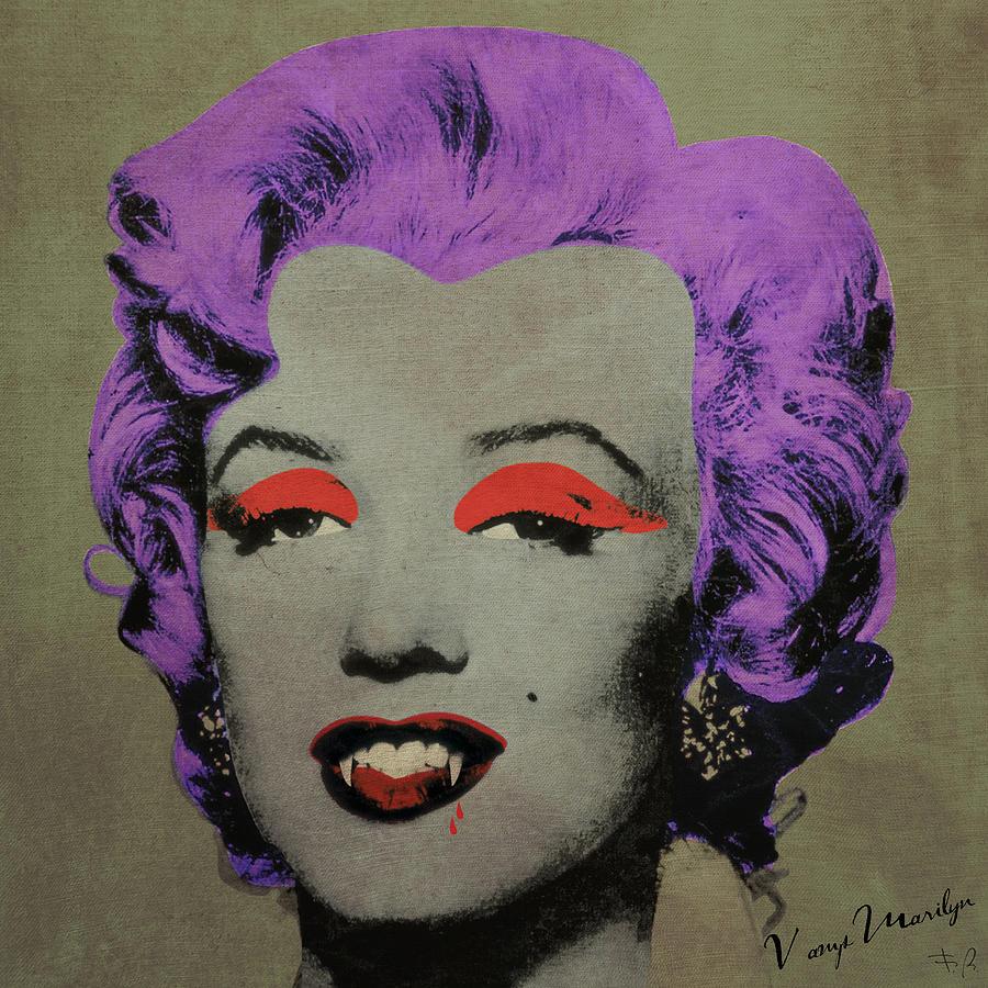 Pop Digital Art - Vampire Marilyn Variant 3 by Filippo B
