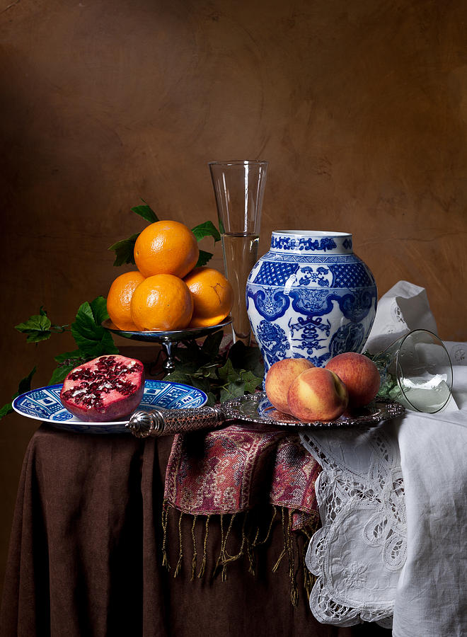 Pronk Photograph - Van Beijeren - Banquet With Chinese Porcelain And Fruits by Levin Rodriguez