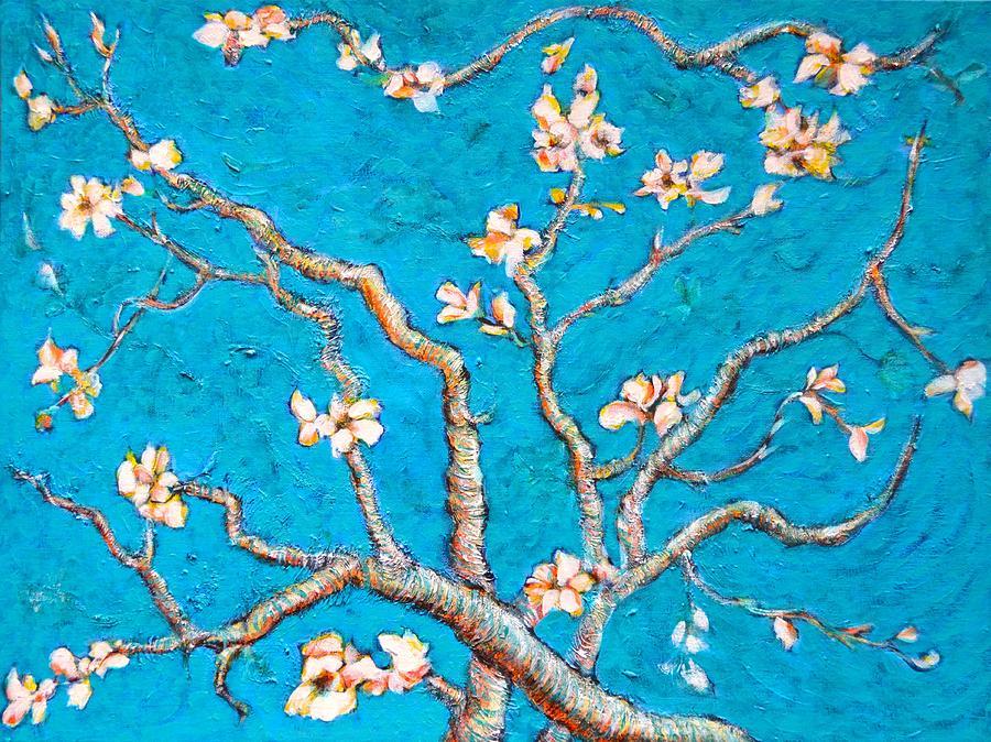 Van Gogh Almond Blossom Slightly Interpreted Painting