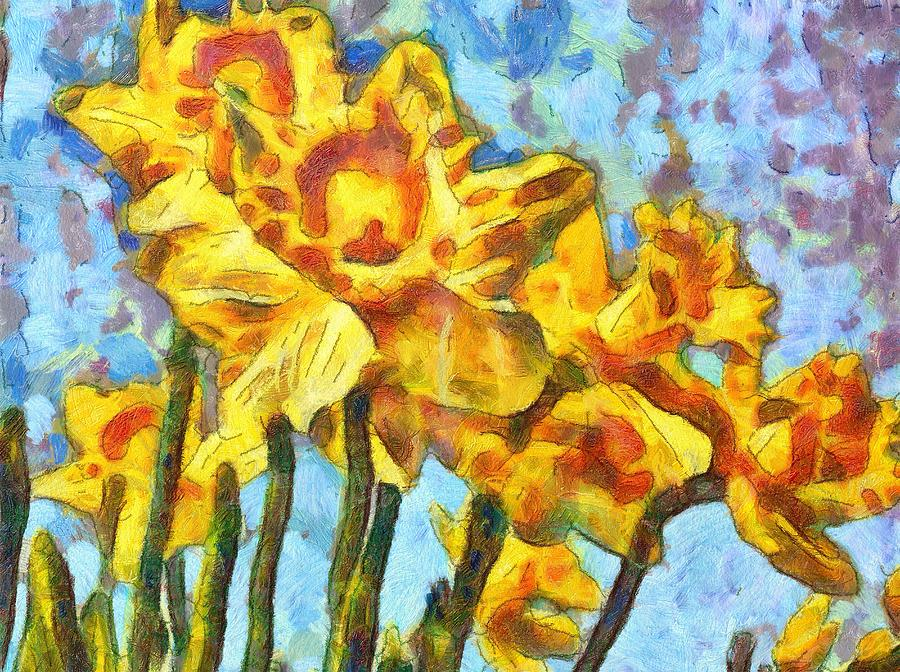 Acrylic Paintings Of Daffodils