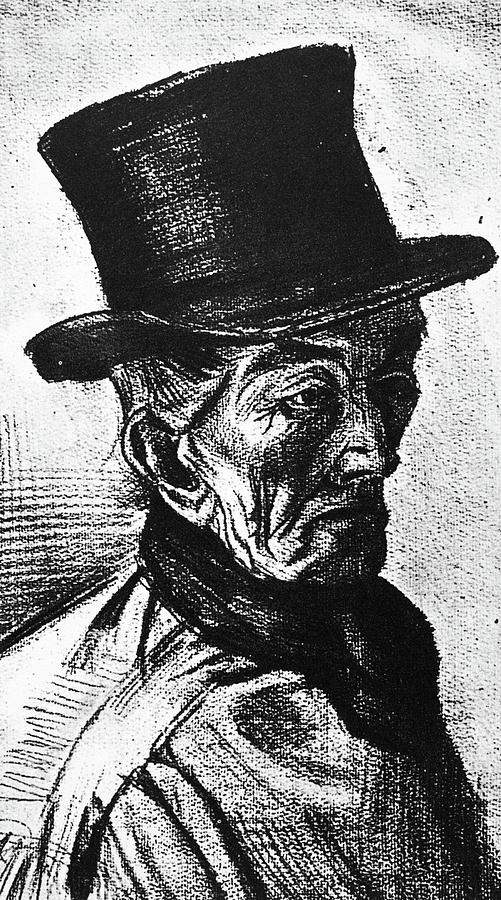 1882 Painting - Man With Top Hat by Vincent Van Gogh