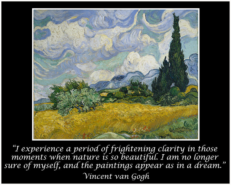 van gogh motivational quotes wheat field cypresses drawing