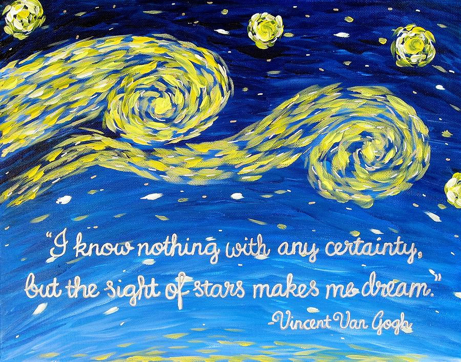Van Gogh Quote Painting