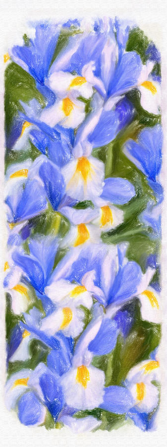 Iris Painting - Van Goghs Iris by Angela A Stanton
