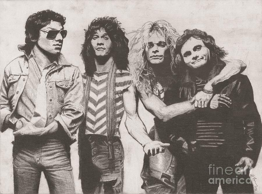 Van Halen Drawing by Jeff Ridlen