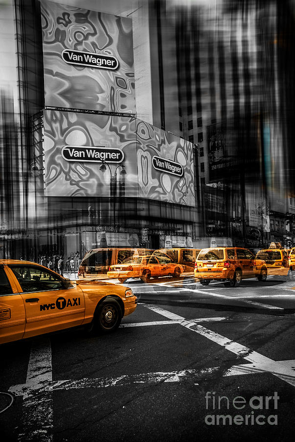 Nyc Photograph - Van Wagner - Colorkey by Hannes Cmarits