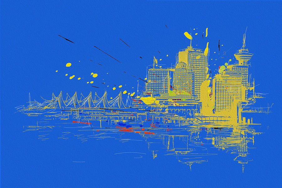 Vancouver Painting - Vancouver Art 005 by Catf