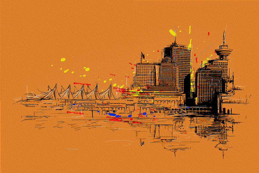Vancouver Painting - Vancouver Art 006 by Catf
