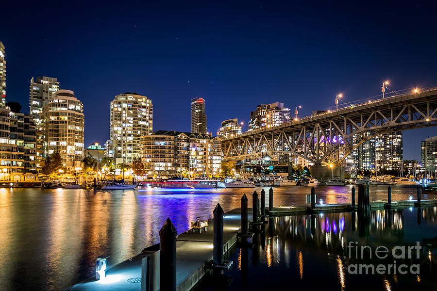 Architectural Photography Photograph - Vancouver At Night by Sabine Edrissi