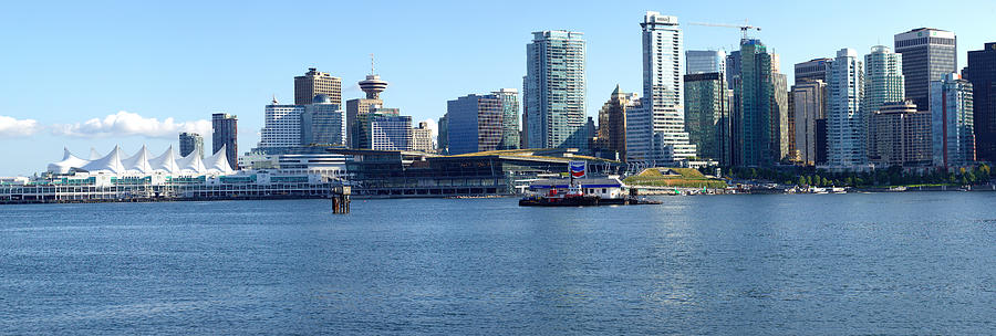 Vancouver Bc Photograph - Vancouver Bc Skyline Panorama Canada. by Gino Rigucci