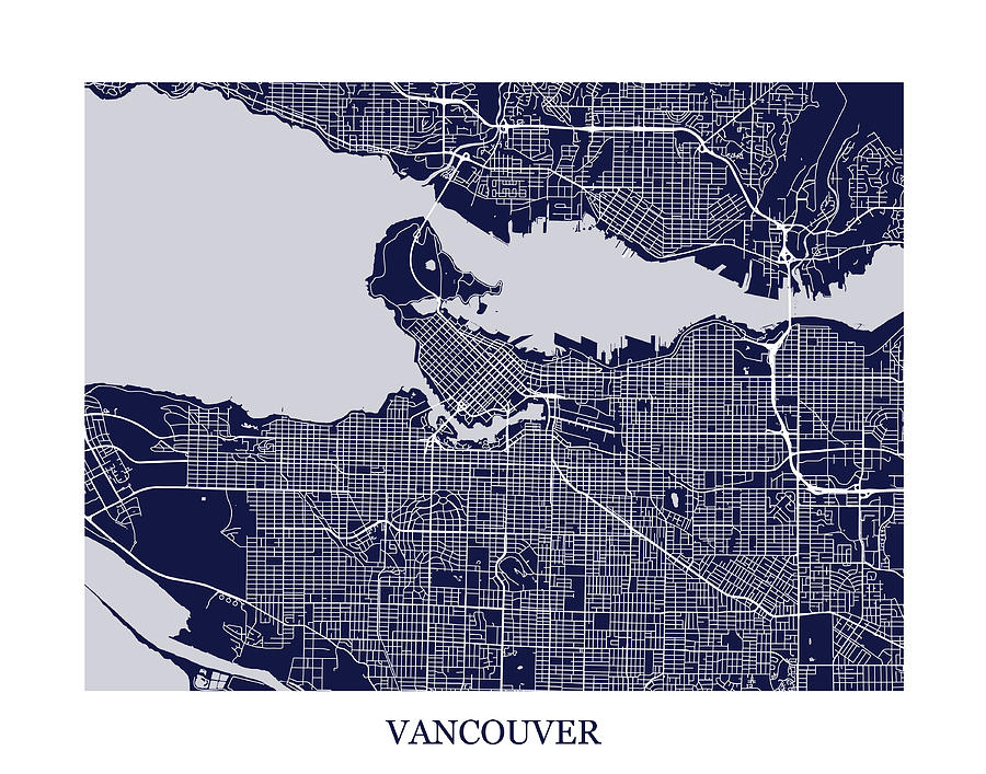 Vancouver british columbia abstract street map print digital art by vancouver digital art vancouver british columbia abstract street map print by eric oquinn gumiabroncs Choice Image