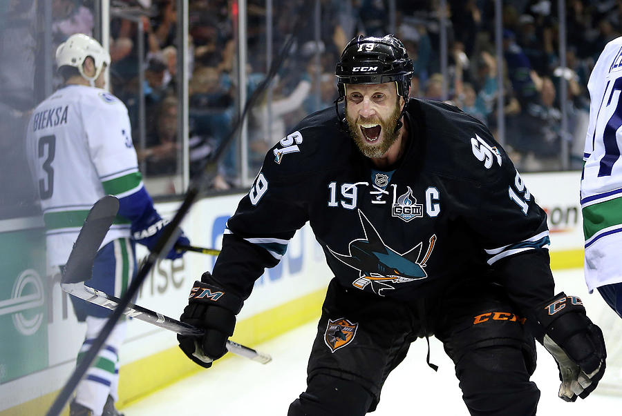 Vancouver Canucks V San Jose Sharks - Photograph by Christian Petersen
