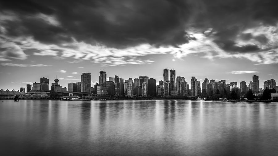Vancouver photograph vancouver city in black and white by pierre leclerc photography