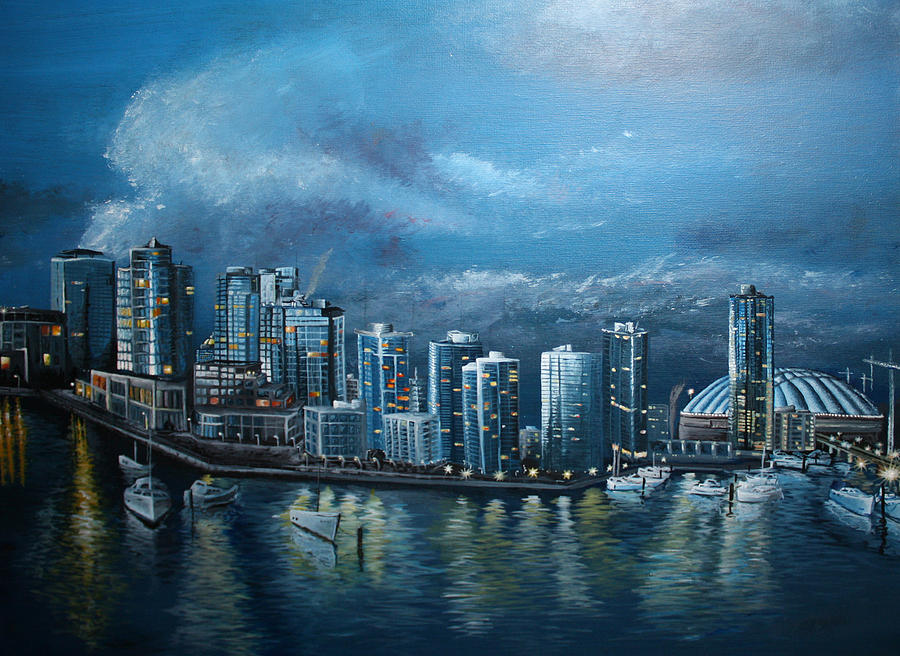 Vancity skyline by Stefan Kaertner