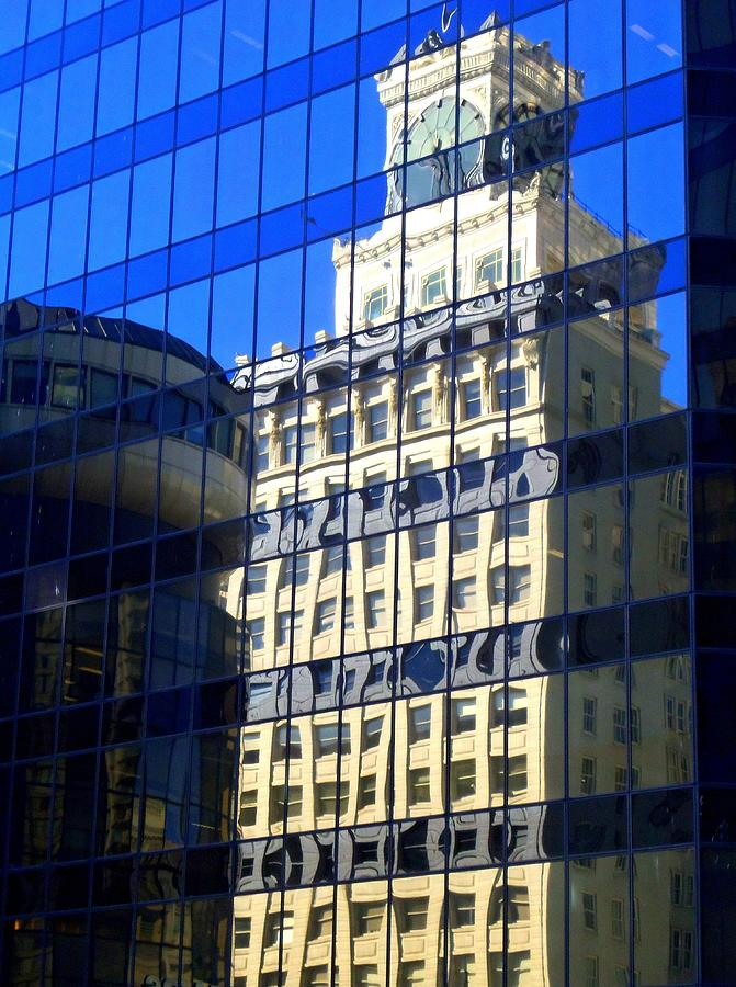 Vancouver Photograph - Vancouver Reflections 4 by Randall Weidner