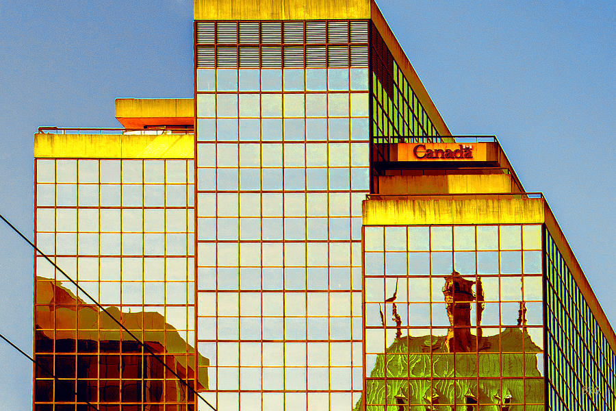 Architecture Photograph - Vancouver Reflections No 2 by Ben and Raisa Gertsberg