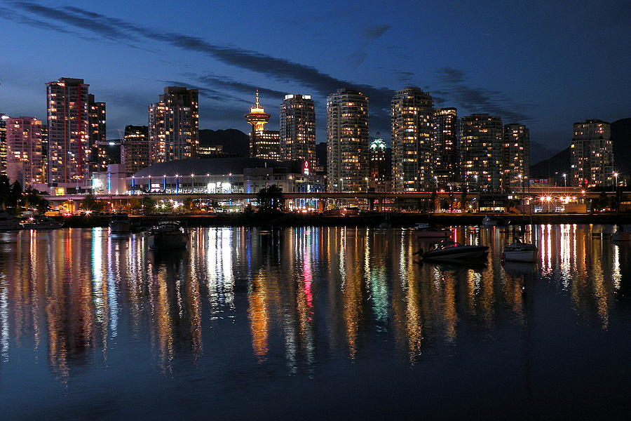 Decor Photograph - Vancouver Skyline by Brian Chase