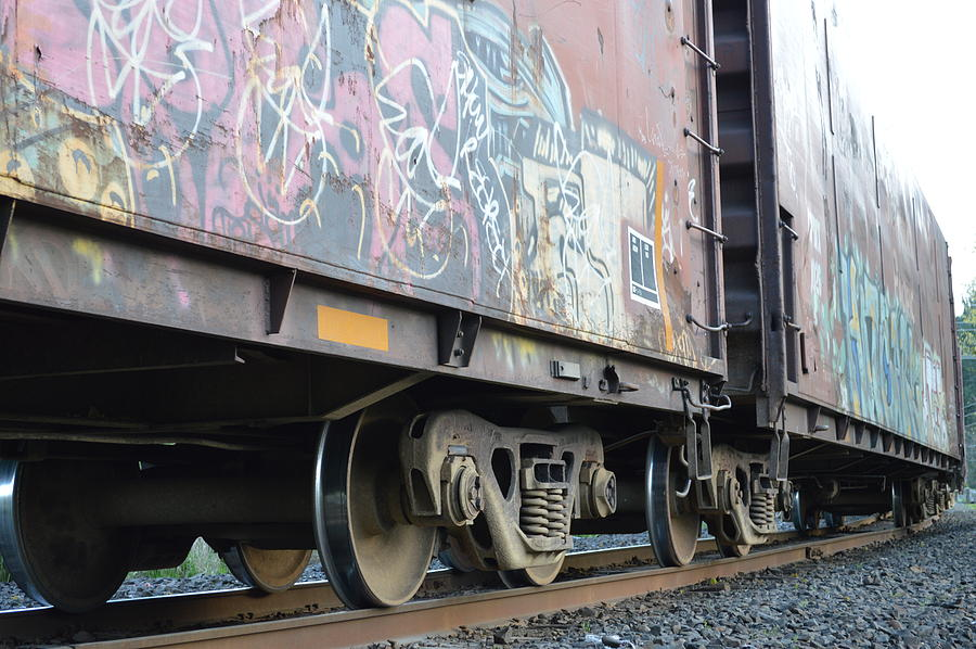 Train Photograph - Vandalise This by Sheldon Blackwell