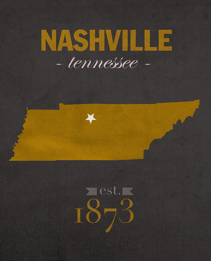 Vanderbilt University Commodores Nashville Tennessee College Town - Us college map poster