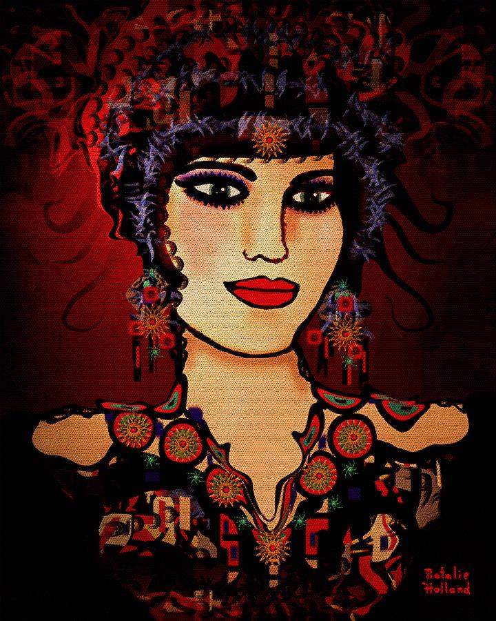 Woman Mixed Media - Vanessa by Natalie Holland