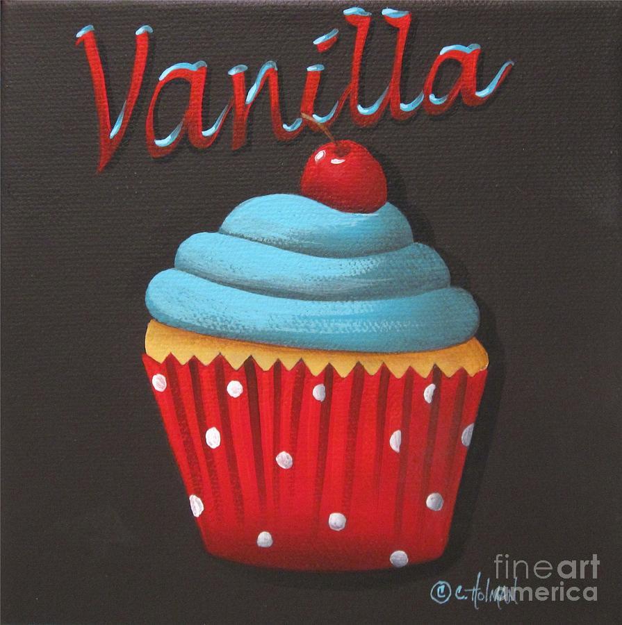 Print Painting - Vanilla Cupcake by Catherine Holman