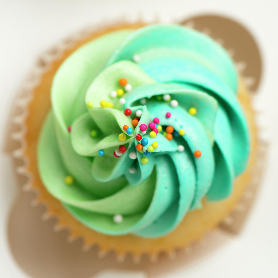 Vanilla Cupcake With Frosting And Photograph by Anshu Ajitsaria