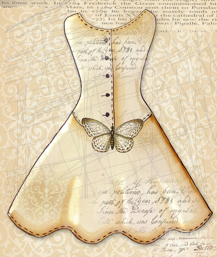 Dress Digital Art - Vanilla Dress by Elaine Jackson