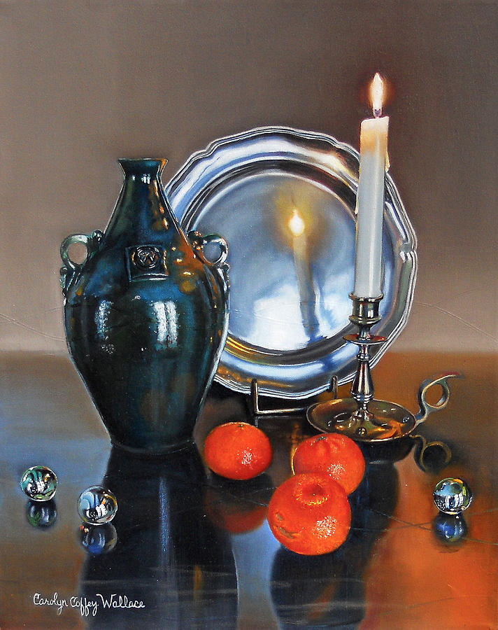 Vanitas Still Life with Candlelight 2 by Carolyn Coffey Wallace